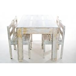 Tavolo e 4 sedie in stile shabby chic