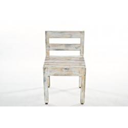 Sedia in legno rigenerato in stile shabby chic