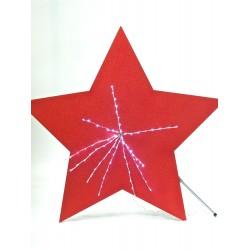 Stella glitterata grande rossa