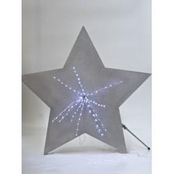 Stella glitterata grande argento