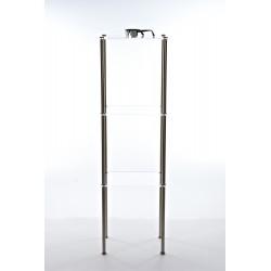 Scaffale acciaio e plexyglass grande